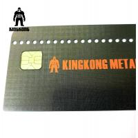 CR80  Grid Finished Metal Membership Card , Square Brushed Metal Business Cards Manufactures