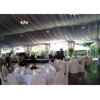 China Luxury Decorated Temporary Wedding Party Tent With Lining For 300 People on sale