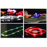 Durable LED Illuminated Shoelaces With 10PCS LEDs For Party Hip - hop Dancing Manufactures