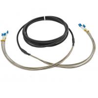 Buy cheap DLC / UPC 4F Outdoor multimode Fiber Optic Cable Duplex LC RRU CPRI from wholesalers