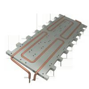 Industrial Extruded Aluminum Heatsink For LED Fixture Round Extrusion Heatsink Profile Manufactures