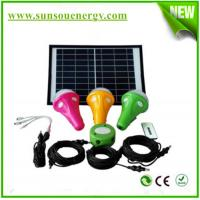 High quality mini solar lighting kits with phone charger, 3 bulb lights, remote controller for hot selling Manufactures