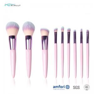 China BSCI 9pcs OEM Pink Makeup Brush Set For Concealer on sale