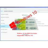 Buy cheap CE Certification COA License Sticker / Windows 10 Professional Product Key from wholesalers