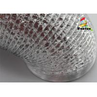 Aluminum Foil Flexible Ducting Pipe 14'' Smooth Environmental Friendly Manufactures