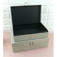 Luxury Rigid Cardboard Custom Printed Jewelry Boxes , Jewelry Gift Boxes With Closure for sale