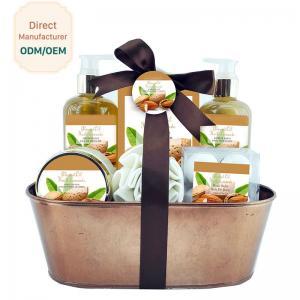 China Mild Body Care Bath Gift Set / Chocolate Bubble Bath Gift Set Willow Basket on sale