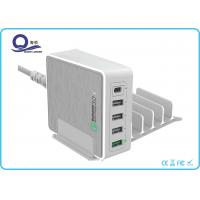 5 Ports 40W Qualcomm Quick Charger 3.0 Type C Output charger for Universal Charge Manufactures