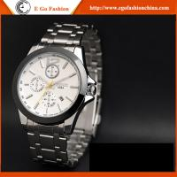 China D009A Day&Date Analog Watch Fashion Jewelry Wholesale Stainless Steel Quartz Watch for Man on sale