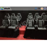 Thrilling 5D Movie Theater Motion Cienma Luxury Black Movement Chairs Manufactures