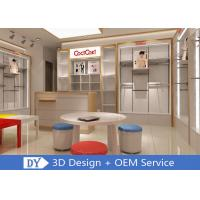 Veener MDF Children'S Store Fixtures With Adjustable Shelf Display Rack Manufactures