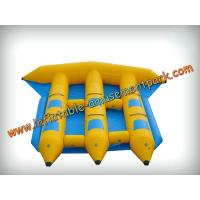 Funny 6 Persons Yellow Inflatable Boat Toys 0.9mm Pvc Tarpaulin Manufactures