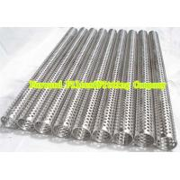 Custom Round Perforated Stainless Steel Pipe With Longitudinal Seam , Filter Support Manufactures