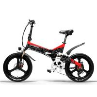China 7 Speed Full Suspension Electric Bike , Shlmano 20 Inch Folding Electric Bicycle on sale