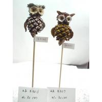 Handmade owl,Length:29.5cm,bark and grass easter day's gifts and garden ornament Manufactures