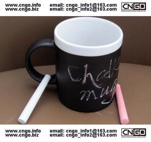 Glazed/Porcelain fashion Chalk Mug wholesale11oz Ceramic Chalk Mugs popular chalk mug Manufactures