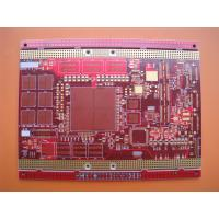 Red Solder Mask Immersion Gold 20 Layer PCB Prototype Boards for Industrial Control Manufactures