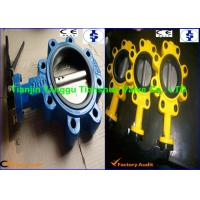 Pneumatic Rubber Lined Wafer Lug Butterfly Valve With Worm Gear Operated Manufactures