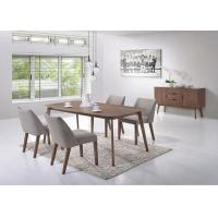 Veneer Top Unique Modern Dining Table Furniture Solid Wood Leg Multi Colors Manufactures