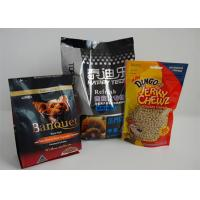 Resealable Food Block Square Dog Food Package , Snack Food Packaging Manufactures