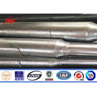 SGS ISO Approval 5-20m Bent Street Lighting Poles In RAL Standard Color Manufactures