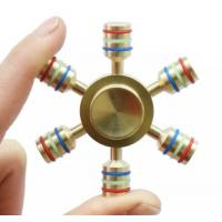 Quality Brass EDC Hand spinner Hand Spinner 6 Spins Fidget Spinner DIY Ceramic Bearing Focus Toys Decompression Toy for sale