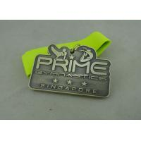 3.0 Inch Sports Die Cast Medals Zinc Alloy 3D With Antique Silver Plating Manufactures