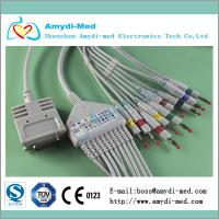 Quality Burdick EK-10,E550,E560 10/12lead ecg/ekg cable with Din 3.0,ekg machine cable for sale