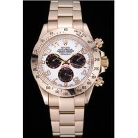 Rolex Cosmograph Daytona White with Black Subdials Gold Bracelet rl47 Crideit card payment Manufactures