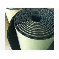 Quality 10mm Adhesive Acoustic Insulating Foam Moisture proof Noise Reducing Material Black for sale