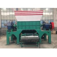 Two Shaft Car Tire Recycling Plant Waste Tyre Recycling Mchine Custom Color Manufactures