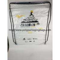 Drawstring Frosted Recycled Plastic Backpack Eco - Friendly Water Proof Manufactures