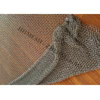 Stainless Steel Ring Mesh Drapery 1.2MM X10MM Used Window Treatments , Backdrops Manufactures