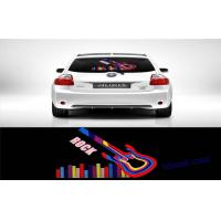 Rock Music Guitar Lighting Up El Car Sticker For Rear Window Multi - color Manufactures