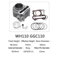 Quality WH110 85mm Total Height Motorcycle Cylinder Kit , 110cc Cylinder Repair Kit for sale
