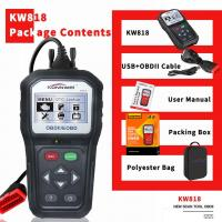 Customizable Konnwei Car Diagnostic Scanner KW818 16 Pin 2.8 Inches Screen For Motorcycle Manufactures