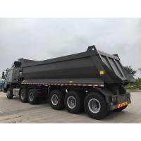3 axles U shape 40 tons load capacity good quality rear dump tipper semi trail for sale Manufactures
