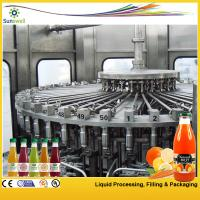 China PET / Glass Bottle Juice Filling Machine 24000BPH With 3-in-1 Filling Monoblock on sale
