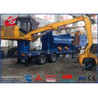 China Light Scrap Metal Logger Baler Mobile Bailing Press Machine With Grab and Diesel Engine on sale