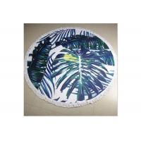 100% Cotton Circle Beach Towel With Tassel , Round Towel Beach For Floor Manufactures