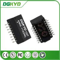 China Customized Safety 1500V AC Isolated Transformers SMD 16 PIN 100BASE Filter on sale