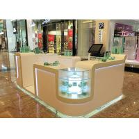 White Cosmetic Display Case Modern Style Small Space For Shopping Mall Display Manufactures