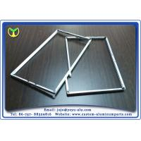 One Time Bending Forming machined aluminum TV Frame Profiles Silver Anodizing Manufactures
