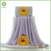 Binding Purple Flannel Baby Blanket With Customized Embroidery Logo Manufactures