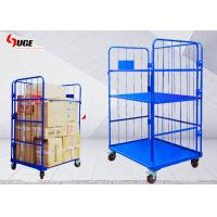 China Foldable Work Cargo Transport Metal Cage Trolley 1100*800*1700MM on sale