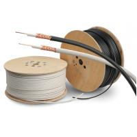 PVC Sheath Copper Coaxial Cable RG59/U Type Cctv Coaxial Cable PE Dielectric Manufactures