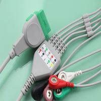 Patient monitor GE marquette ecg cable,11 pins,grabber/snap,TPU cable,AHA/IEC,CE certificated Manufactures