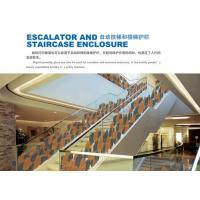 China Custom Tempered Laminated Safety Glass For Escalator / Staircase Enclosure on sale