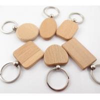 China Small Rectangle Shape Wooden Blank Keychains, Wood Label in different Size on sale