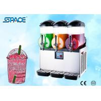 China Triple Tanks Restaurant Frozen Drink Machine , Countertop Slush Machine on sale